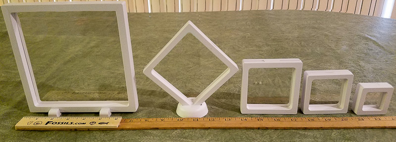 White Floating Frame Display Boxes Vertical Empty